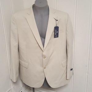 Stafford Travel Men's Suit Coat Classic Fit 50 Reg